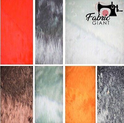 Super Luxury Plain Pile Animal Faux Fur Fabric Soft Pile Ideal For Clothing 10mm
