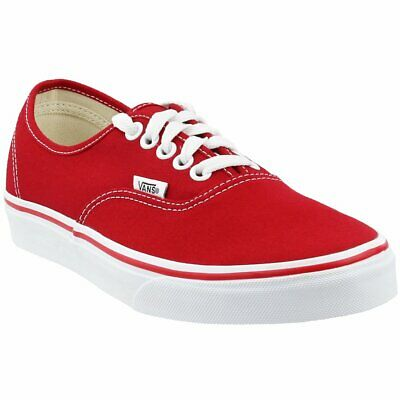 Vans Authentic Skate Shoes - Red - Mens