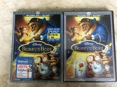 Beauty and the Beast (Blu-ray/DVD, 2010, 3-Disc Set, Diamond Edition) BRAND NEW!