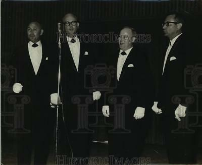 "1968 Press Photo Four Members of the quartet ""The Accents"" - sap04195"