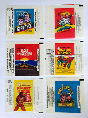 1970s Scanlens Assorted Bubble Gum WAX WRAPPERS LOT OF 6