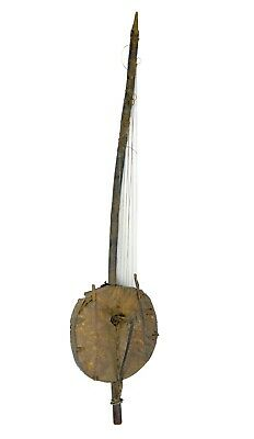 Antique Senufo N'goni Musical Instrument, African Music