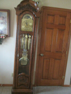 Vintage Ridgeway Grandfather Clock Westminister chimes  - Serial # 87003097