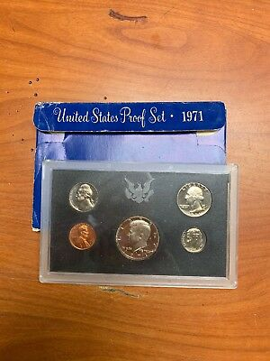 1971-S United States Mint Proof Coin Set w/ Box