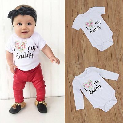Newborn Infant Baby Boy Girl Quote Romper Jumpsuit Bodysuit Kids Clothes Outfits