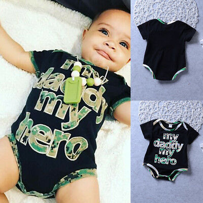 Newborn Infant Baby Boy Girl Hero Romper Jumpsuit Cotton Bodysuit Clothes Outfit