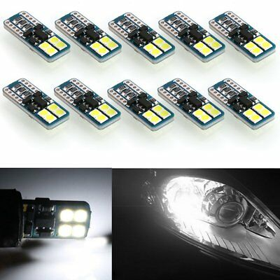 10x CANBUS ERROR FREE LED White T10 194 168 2825 W5W Wedge 8 SMD 3030 Light Bulb