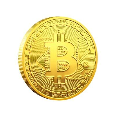 Bitcoin Commemorative Round Collectors Coin Bit Coin is Gold Plated Coins