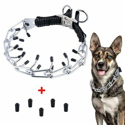Dog Prong Collar Metal Pinch Training Collars With Quick Release Buckle For Dogs