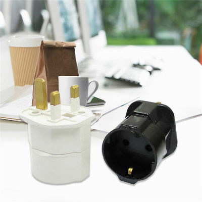 European 2 Pin to UK 3 Pin Plug Adaptor Euro EU Schuko Travel Mains Adapter