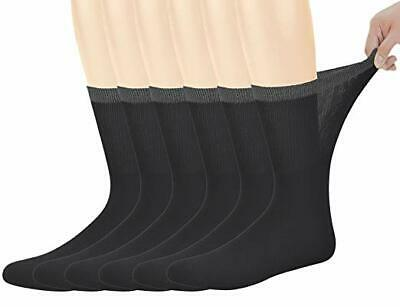 Yomandamor Best Mens Bamboo Mid-Calf Diabetic Socks With Seamless Toe,6 Pairs...