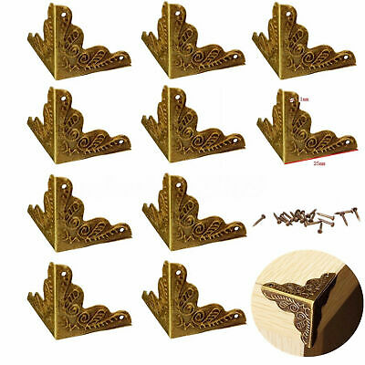 10pcs Antique Jewelry Corner Protector Wooden Box Frame Feet Leg Decorative AU