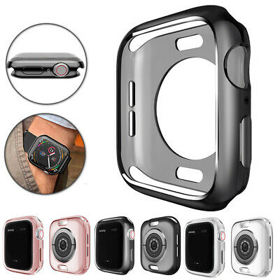 For Apple Watch Series 4 Silicone TPU Bumper Case Cover iWatch Protector 40/44m