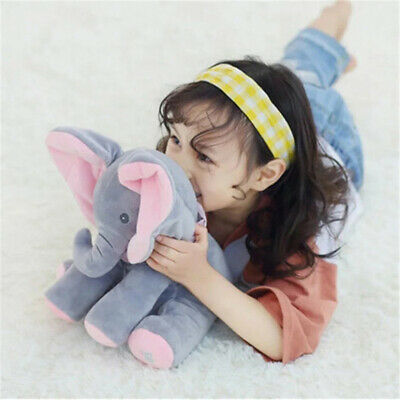 Flappy Ear Elephant O Flap Sing Play Plush Singing Electric Plush Toy for Baby