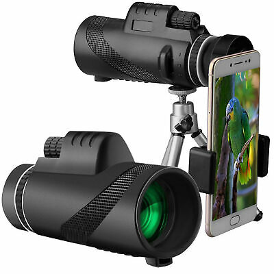 3PC High-power BAK4 40x60 Monocular Telescope with Fast Smartphone Stand KIT AU