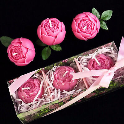 3D Rose Flower Silicone Candle Chocolate Mold Decorative Cake Soap DIY Moulds AU