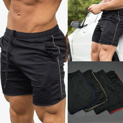 Mens Sports Jogger Gym Casual Shorts Pants Running Training Fit Trousers Clothes