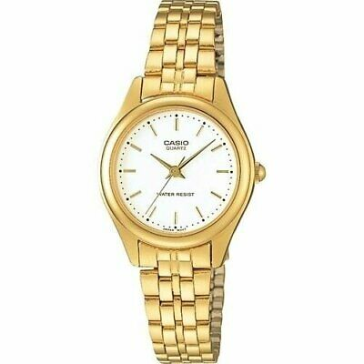 Casio Women's LTP-1129N-7A 'Classic' Gold-Tone Stainless Steel Watch - White