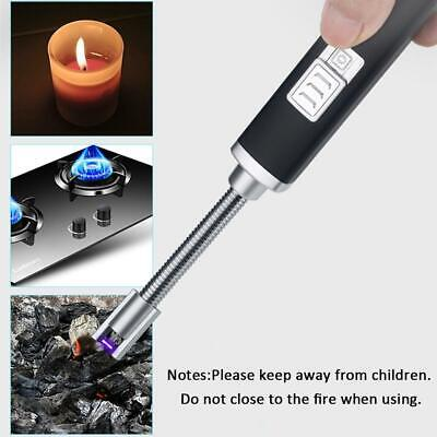Electric Lighter Arc USB Rechargeable Aluminum Flameless Plasma Safety Torch AU