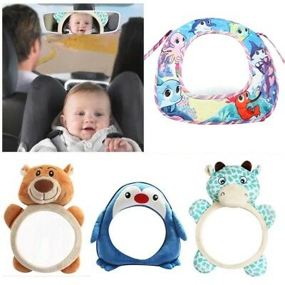 UK Baby Child Wide View Rear Seat Rearview Back Mirror Car Safety Headrest Mount