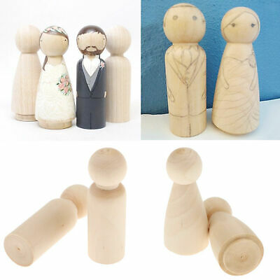 20pcs peg doll little people female and male bride groom wooden dolls