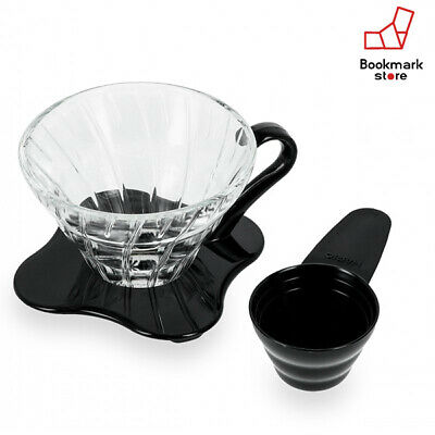 NEW Hario V60 Glass Coffee Dripper VDG-03B Drip 1~6 cups Black from Japan F/S