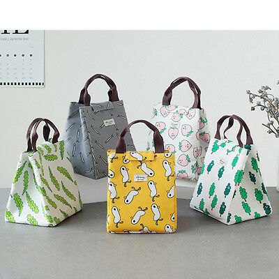 Portable unch Bag Thermal Insulated Snack Picnic Box Carry Tote Storage Bag LG