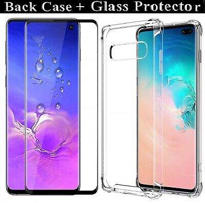 Samsung Galaxy S10 S10e S10 Plus Tempered Glass Screen Protector 5D + Case Lot