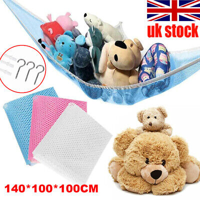Large Soft Toy Hammock Mesh Net Teddy Bear Storage Baby Bedroom Collect Nursery