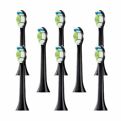 8 Philips Sonicare Diamond Clean Toothbrush Brush Heads Replacement HX6064 BLACK
