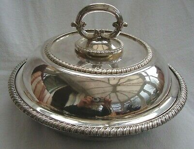 Alexander Clark London Made Entree Dish Epns Silver Plate Tureen Bowl & Cover