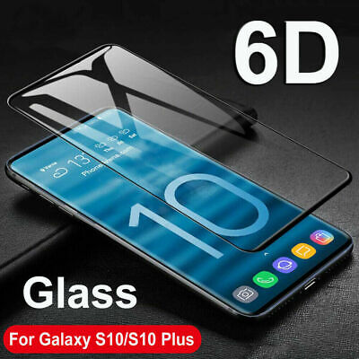 6D Tempered Glass for Samsung Galaxy S10 Plus S10 Screen Protector Full Cover AU