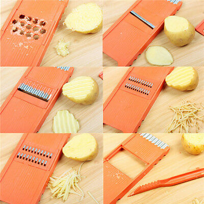 6Pcs Home Replaceable Blade Slicer Vegetable Cutter Potato Onion Carrot Grater G