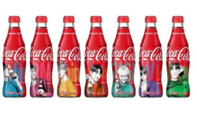 BTS X Coca Cola Limited Special Package Glass Bottle Cola +Free TR