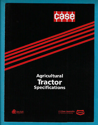 CASE 2WD and FW ASSIST RANGE TRACTORS FOLDOUT SPECIFICATIONS BROCHURE