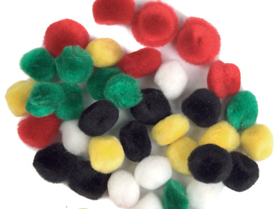 The Craft Factory CF05[1-6] | Pom Poms Toy Making 13mm 30 pack