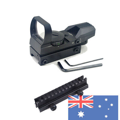 New Tactical 4 Red Dot Reticle Reflex Sight + Aluminum Raiser Mount for Airsoft
