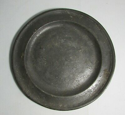 RICHARD GOING Antique BRISTOL PEWTER Charger PLATE c1740