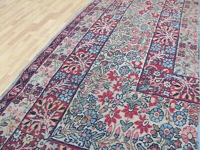 A BEAUTIFUL ANTIQUE HANDMADE PART OF A KERMEN ORIENTAL RUNNER (236 x 62 cm)