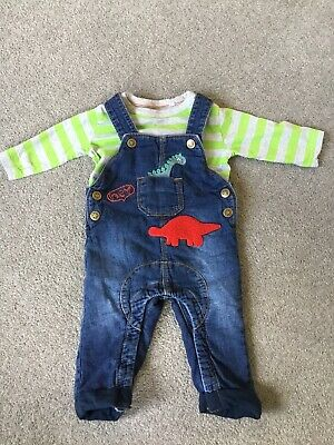 Baby Boys Dungarees Age 6-9 Months