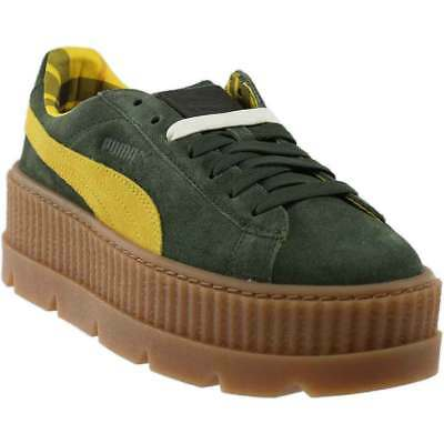 6247ff8d9e3 WOMENS PUMA FENTY Cleated Creepers SURF DAZZLING BLUE GREEN Trainers ...