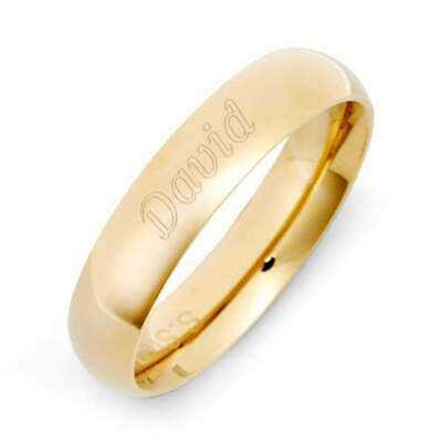 Gold Plated 5mm Stainless Steel Comfort Fit Band