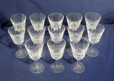"""Waterford Crystal Glass Lismore 14 Claret Wine Goblets Glasses 5-7/8"""" x 3"""""""