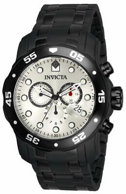 Invicta 80075 Pro Diver Scuba Chronograph Date Black Bracelet Mens Watch