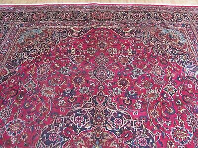 A WONDERFUL OLD HANDMADE MASHAED KHORASON ORIENTAL CARPET (395 x 290 cm)