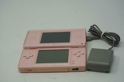 Used Working Pink Nintendo DS Lite Console Handheld Video Game System B0719