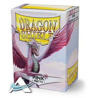 100 Bustine Protettive Standard Size Sleeves DRAGON SHIELD • Matte • Rosa Pink