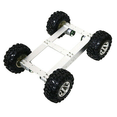 4WD Smart Car Tank Chassis Kit DIY Robot with 12V 100rpm Motor Silver Wheel