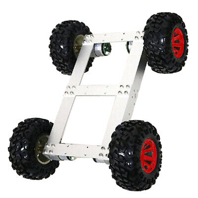 4WD Smart Car Tank Chassis Kit DIY Robot with 12V 300rpm Motor Red Wheel