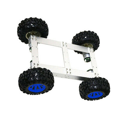 4WD Smart Car Tank Chassis Kit DIY Robot with 12V 330rpm Motor Blue Wheel